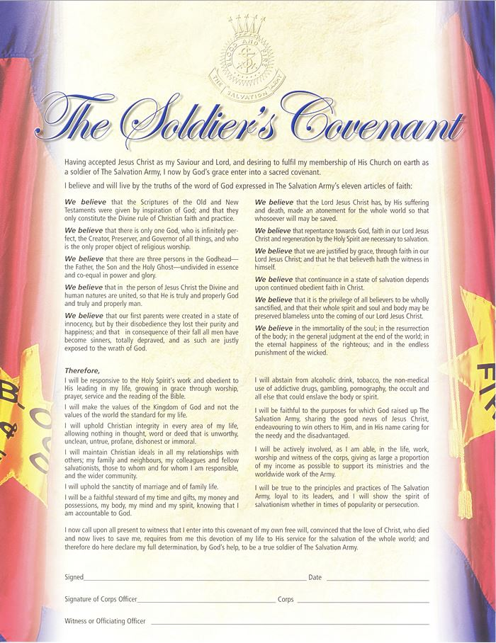 The Soldier's Covenant Articles of War