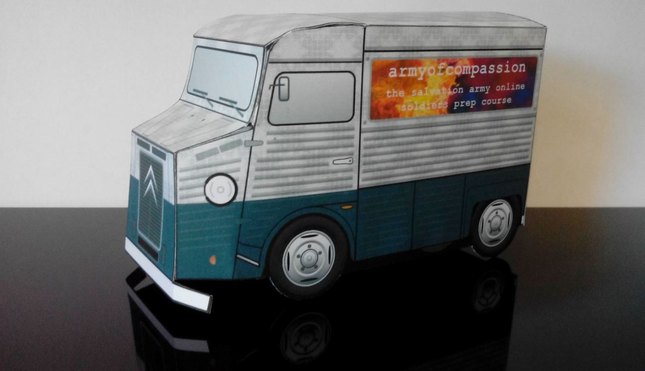 Download your FREE armyofcompassion PaperTruck